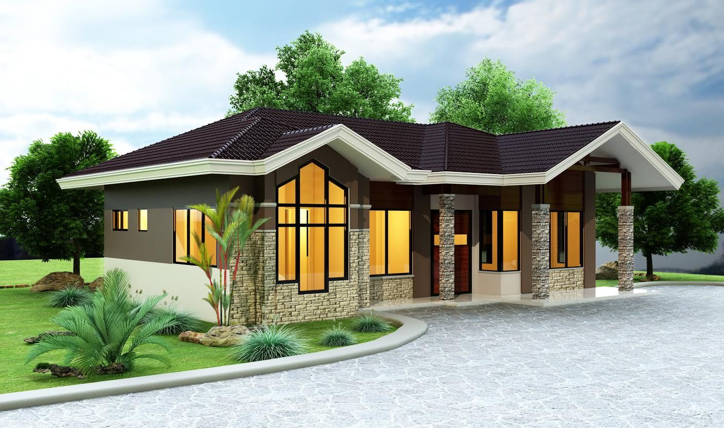 BoholInspired Bungalow House in Philippines Design by