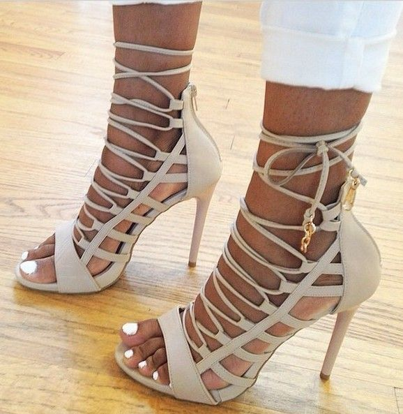 d6bc8a9b0460e Aquazzura amazon leather heels in nude