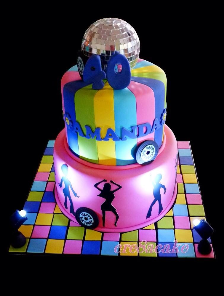 Disco cake with lights my cakes pinterest cakes