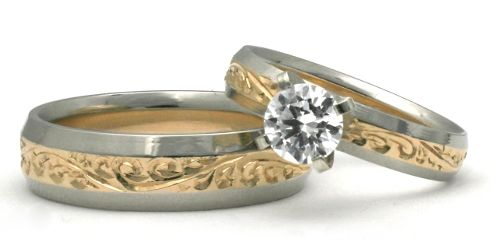 Hawaiian Wedding Ring Giveaway Honolulu Jewelry Company Is Giving Away A 4mm 14k Gold Set With 1 4 Carat Diamond