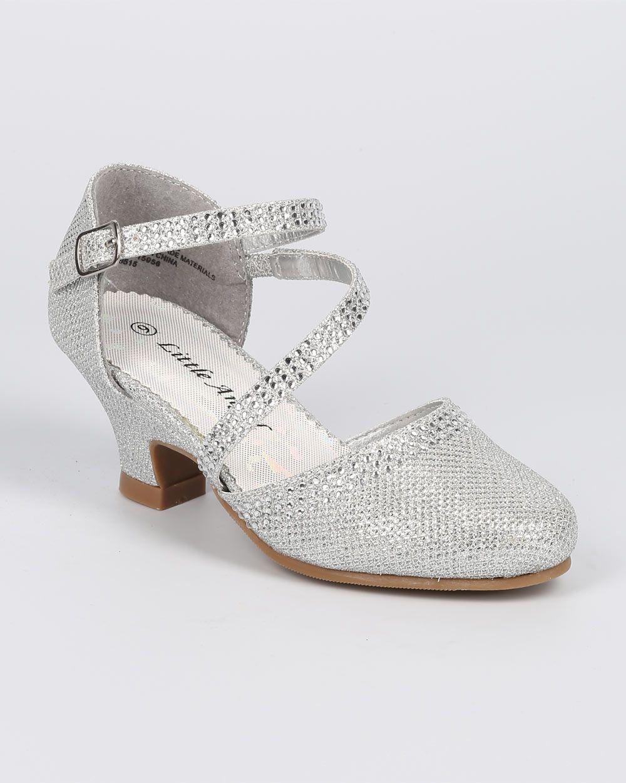 201204b6fa New-Girl-Little-Angel-Daphne-856-Glitter-Shimmer-Rhinestone-Mary-Jane-Pump -Size