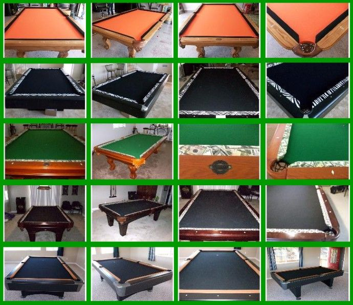 Two Tone Pool Table Felt Pool Table Felt Pool Table Felt Colors Custom Pool Tables