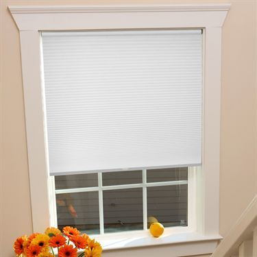 White Push and Glide Cordless Window Shade