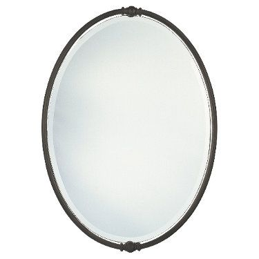 W 24 H 33 J S Bath Oval Mirror Oil Rubbed Bronze Bronze Mirror Oil rubbed bronze oval mirror
