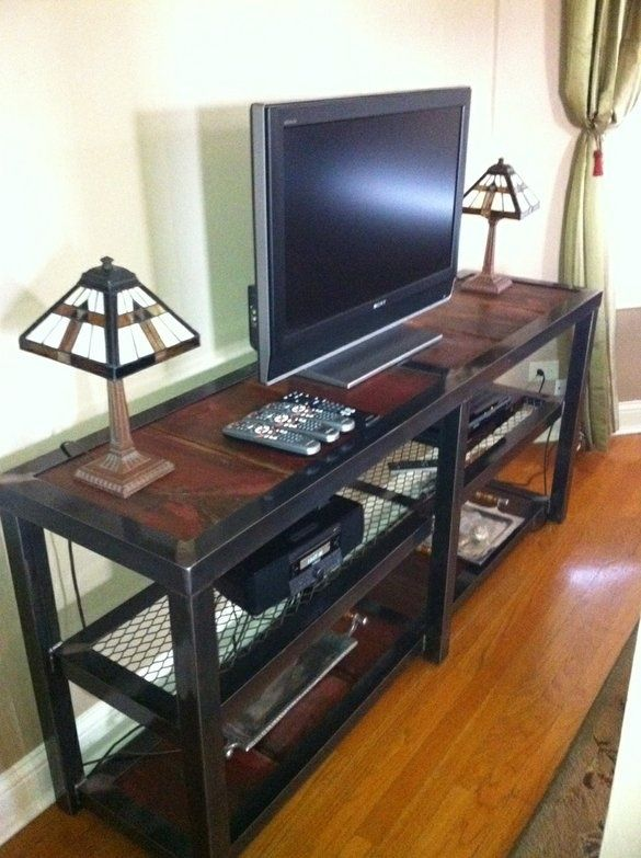 The Berend...custom Ordered Console And Shelving Unit. Steel Frame .
