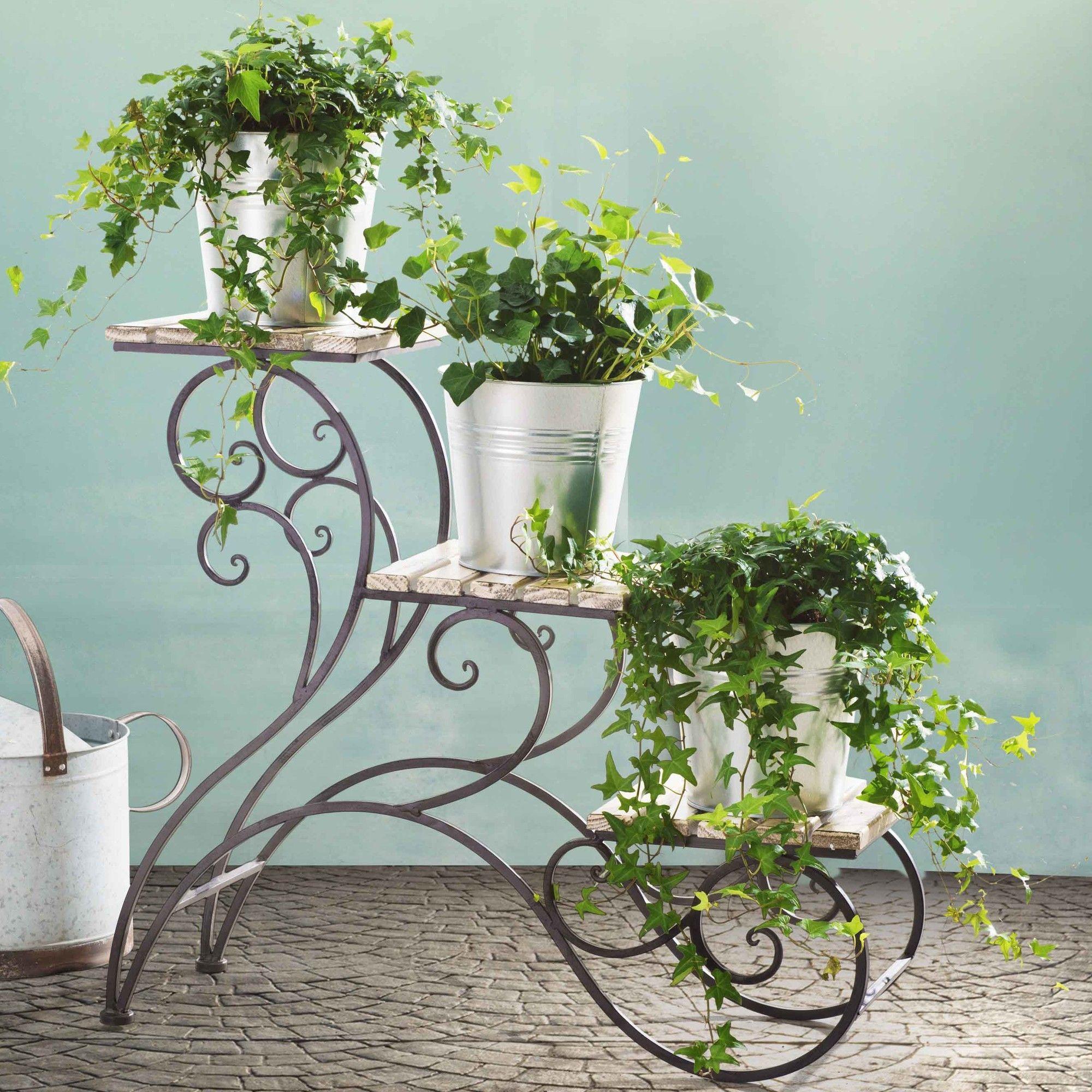 Multi Tiered Plant Stand Com Imagens Decoracao De Ferro
