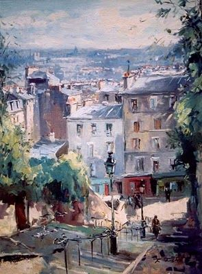Paris In Painting By Robert Ricart French Artist Peinture Paris