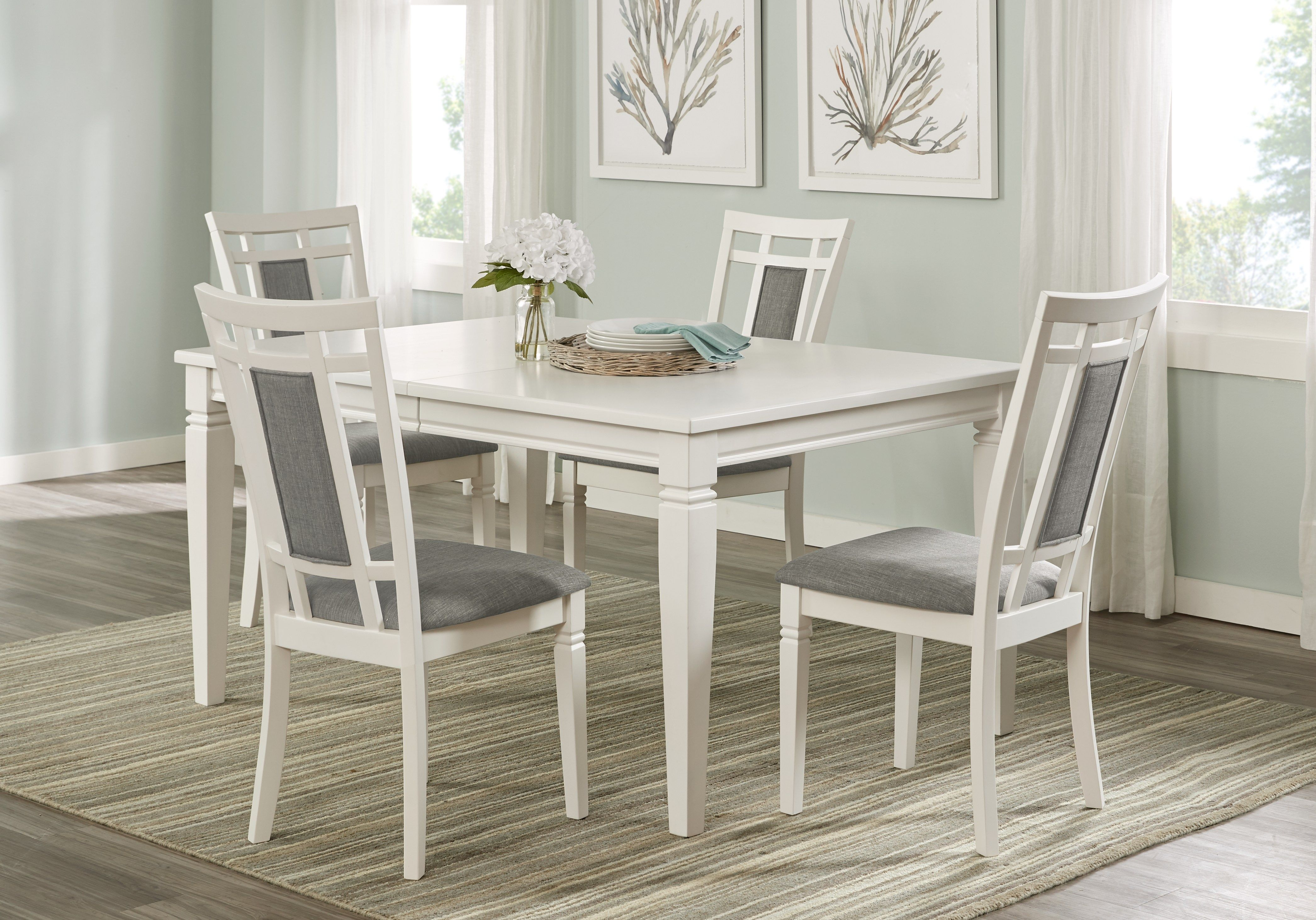 Riverdale White 5 Pc Rectangle Dining Room Dining Room Sets White Dining Room Sets White Dining Set Affordable Dining Room Sets