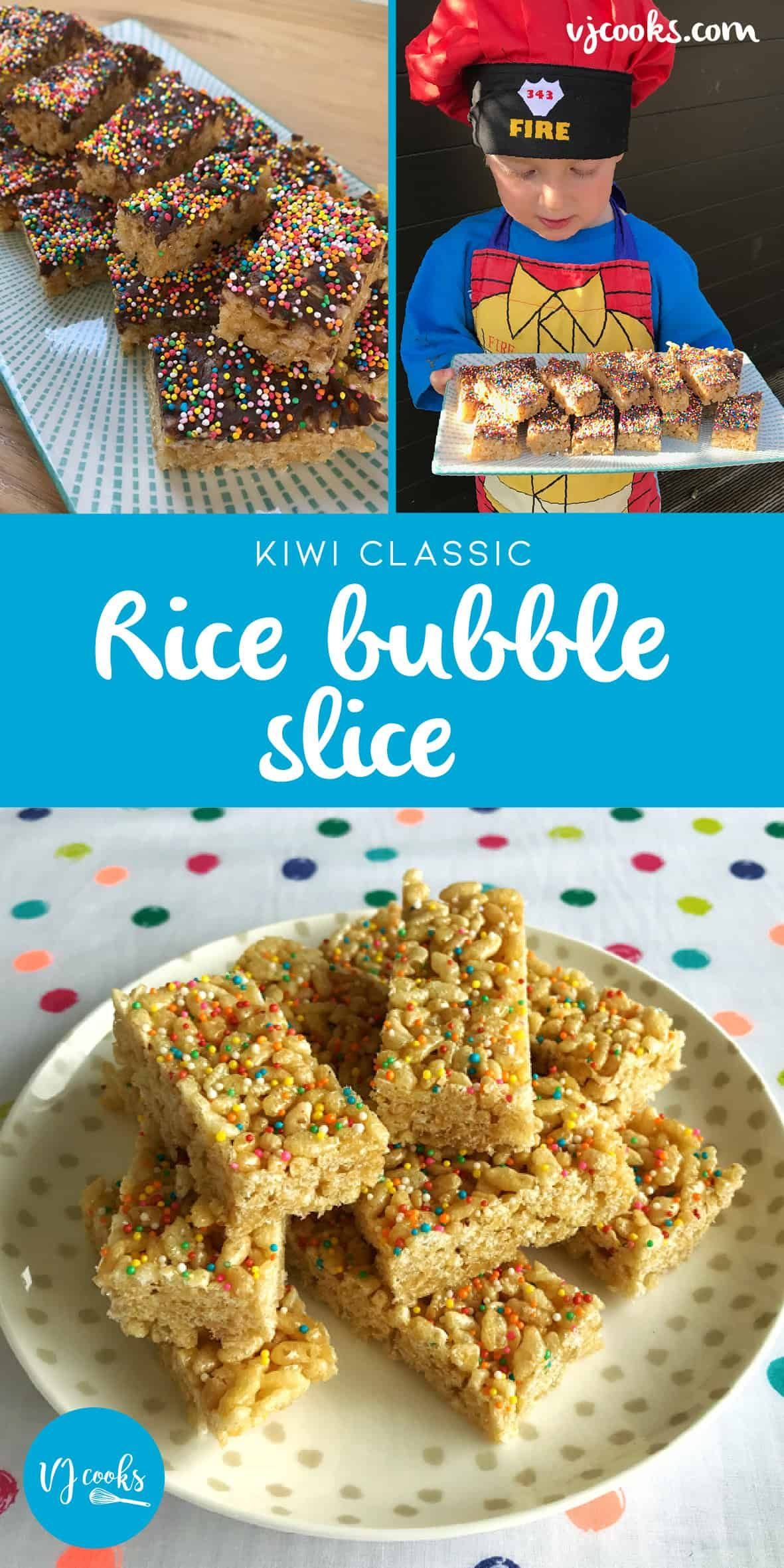 Rice bubble slice   Recipe   Rice bubble slice, Rice ...