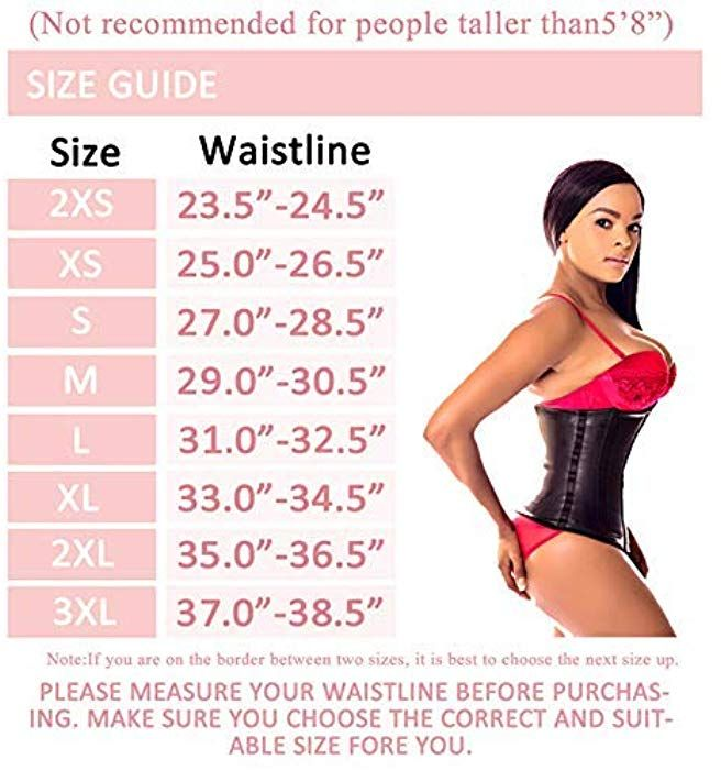 4d785fb555e Ann Darling Latex Sport Waist Trainer Cincher Trimmer Hourglass Corset For Weight  Loss Black X-small at Amazon Women s Clothing store