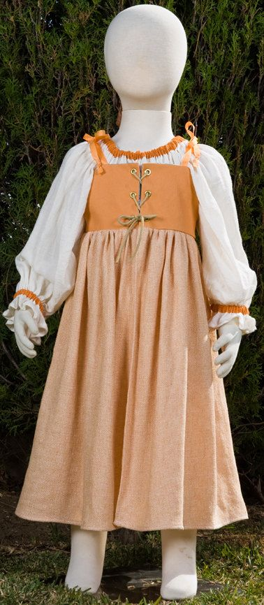Size Small and Medium Girls Irish dress in Peach. Great for ...