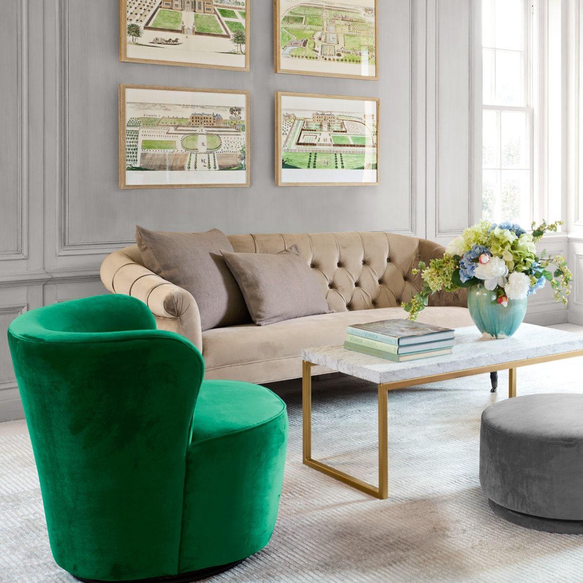 Modern Velvet Swivel Chair Furniture, Accent chairs for