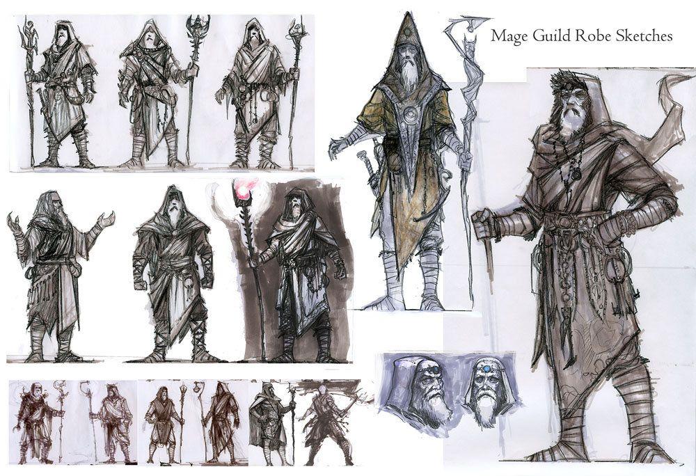 Mage Guild Sketches Ray Lederer Skyrim Concept Art Fallout Concept Art Concept Art