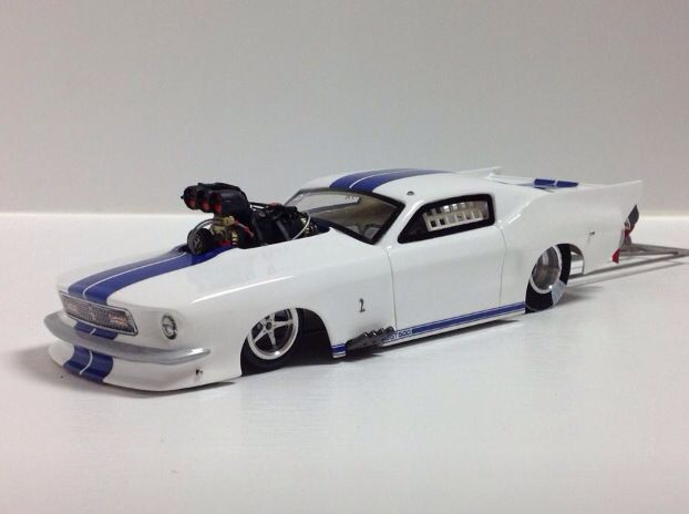 Beautiful Mustang     hard to believe its a slot car drag