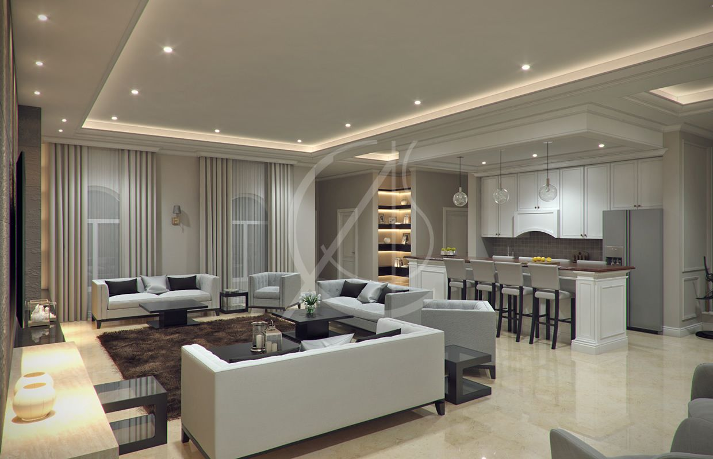 Modern Classic Villa Interior Design - Riyadh, Saudi ...