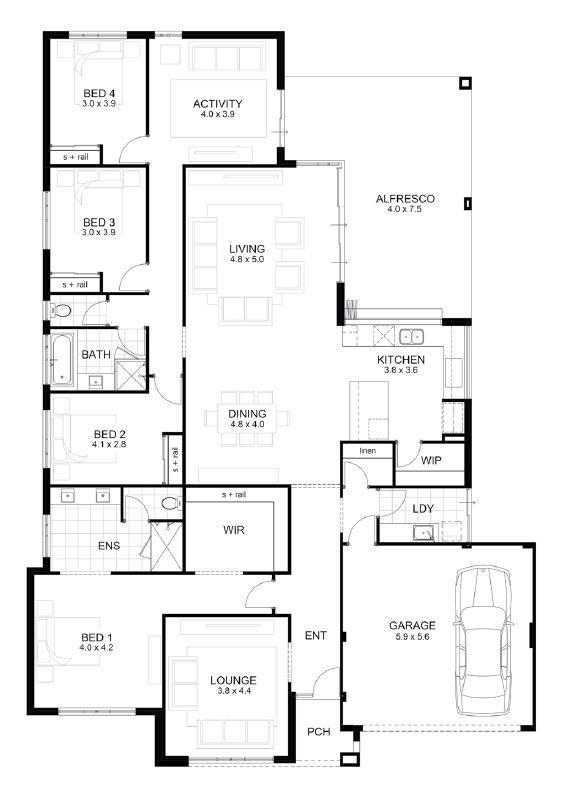 Single Storey Home Designs Home Design Floor Plans Affordable House Plans Open Floor House Plans
