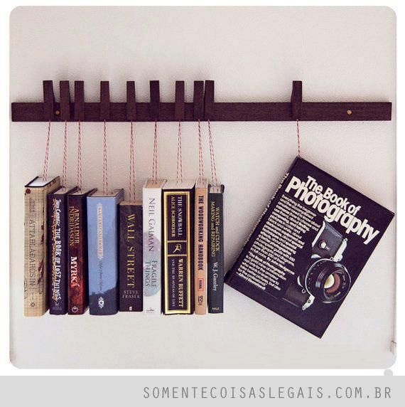 Inverted Book Shelf Custom Made Wooden Rack Movable PinsThe Pins By OldAndCold
