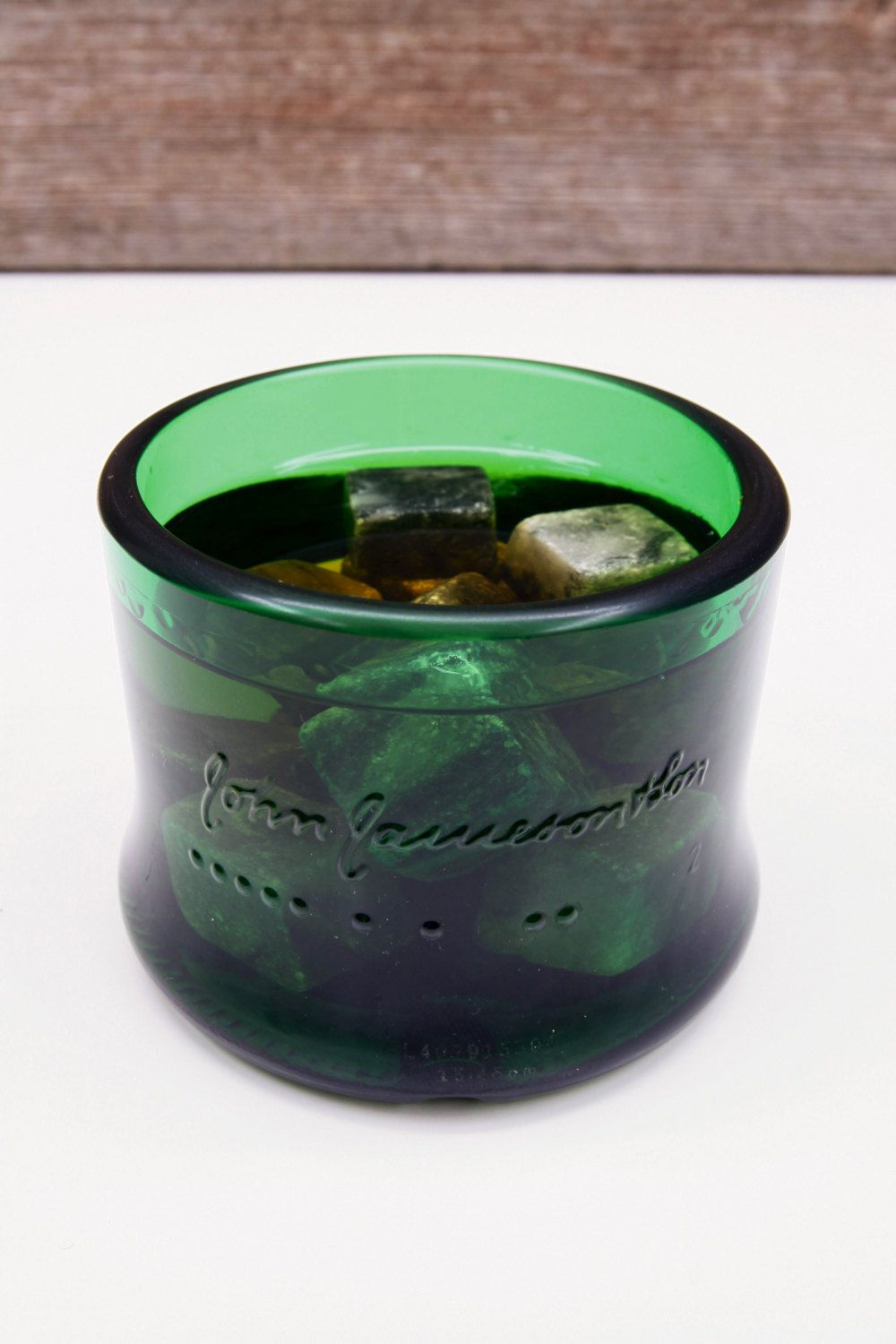 Free Shipping! Jameson Rocks Glass From A Cut Bottle by IdaradoLighting on Etsy