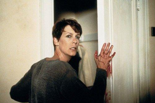 Jamie Lee Curtis in Halloween H20 twenty years later