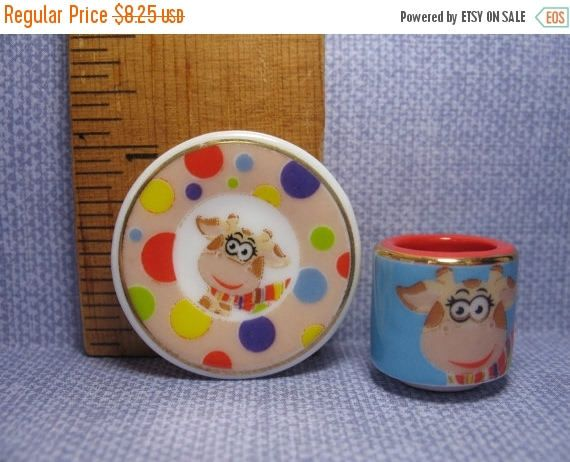 SALE Tiny GIRAFFE Mug & Plate Platter China Dish Dishes Cup