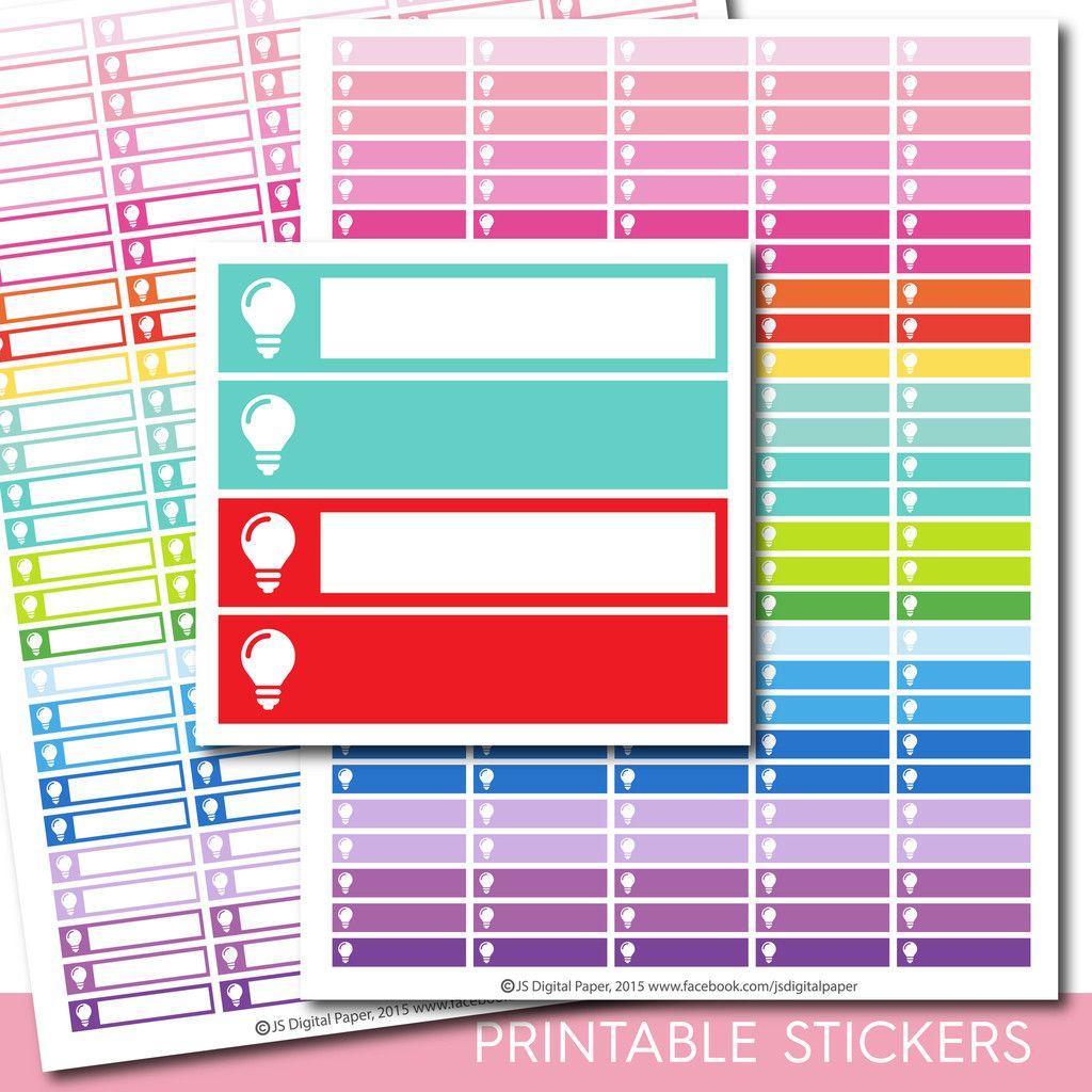 Lightbulb planner stickers, Idea stickers, STI-261 | Pinterest ...