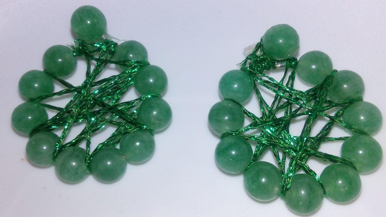 Burst of Jade earrings by EisbrenacDesigns on Etsy
