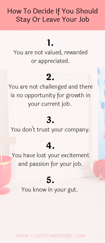 How do you decide to change jobs
