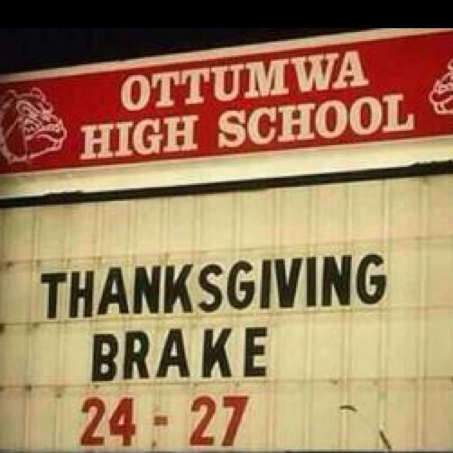 Brake for Thanksgiving! #proofreading