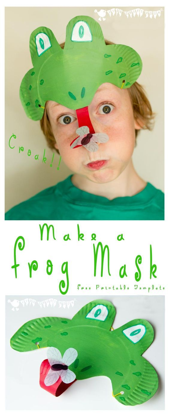 Make a curly tongued fly catching Paper Plate Frog Mask perfect for Spring and & PAPER PLATE FROG MASK | Frog mask Frogs and Masking