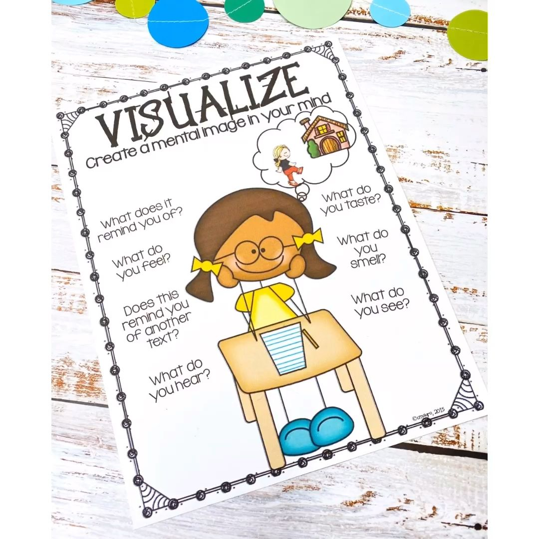 Visualizing is one of my favorite reading comprehension strategies to teach! This pack is filled with engaging activities that can be used to teach the important skill of visualization. Click through to check it out.