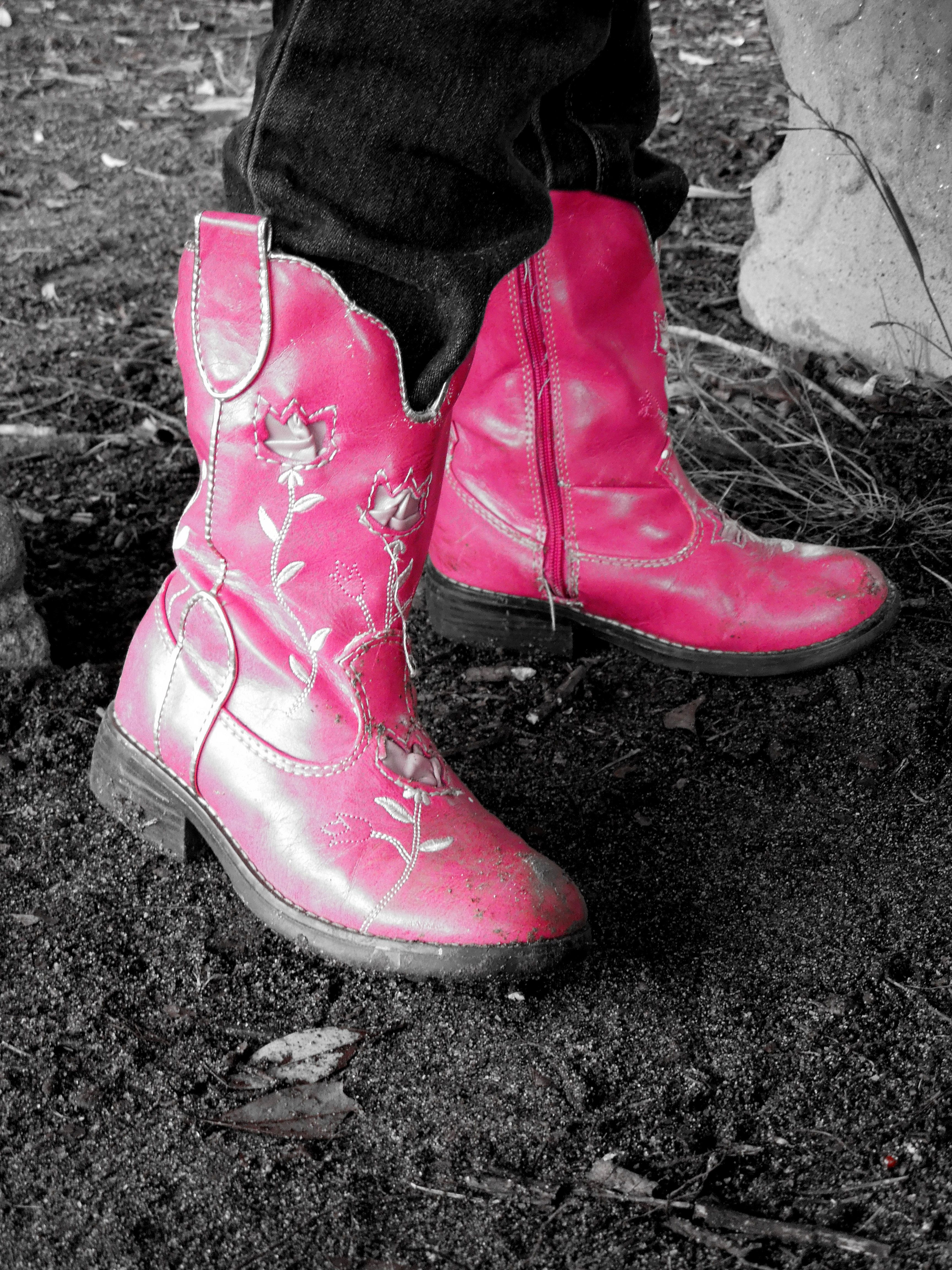 """A young cowgirl's first boots.""  Photo by Meg Coker."