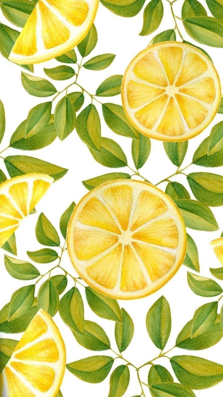 in 2020 Lemon art, Ipad wallpaper watercolor
