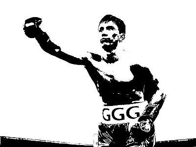 GENNADY GGG GOLOVKIN Poster Fight Art Print Vintage Boxing Canvas Sticker B