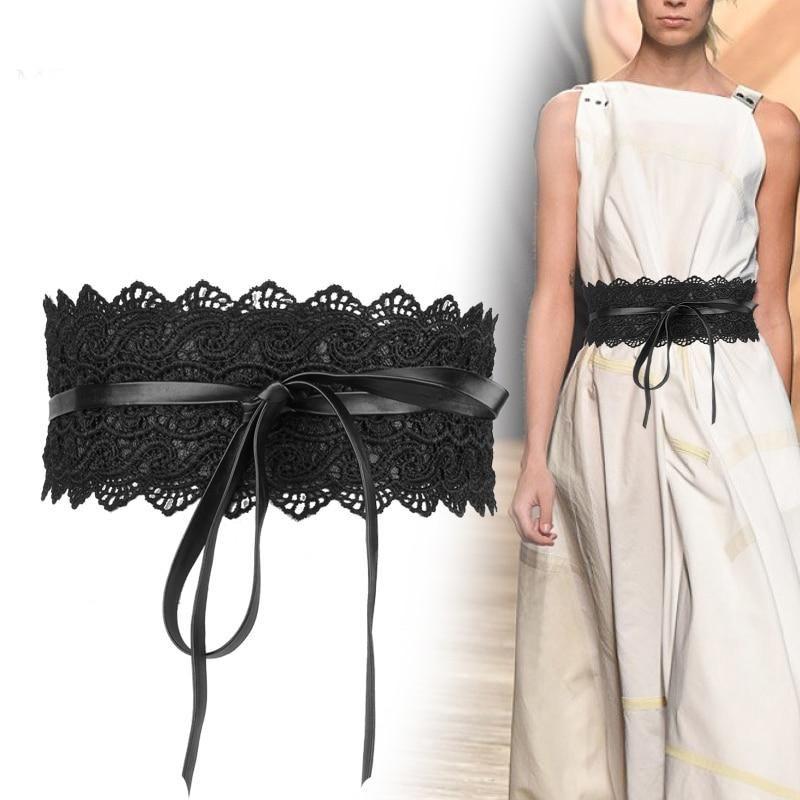 Wide Corset Lace Belt Female Cinch Waistband Belts For Women Dress Waist
