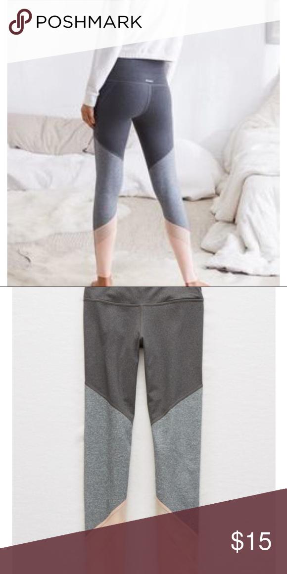 c2be8167fc7e1 Aerie leggings Grey & light pink leggings from aerie aerie Pants Leggings