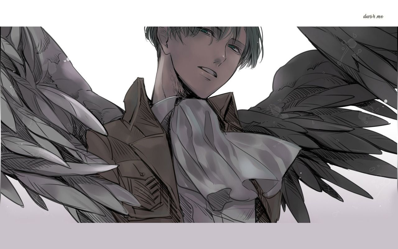 Levi, he was born with the wings of freedom. Levi x eren