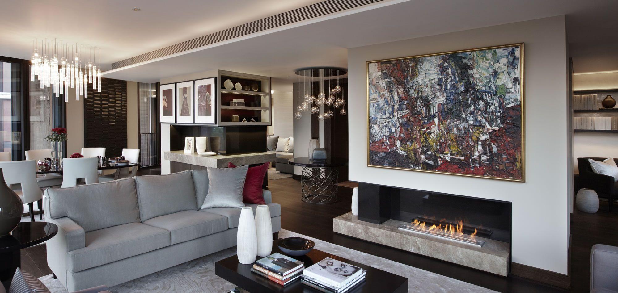 Helen Green  Contemporary Apartment One Hyde Park  Living Room Entrancing Contemporary Modern Living Room Design Decoration