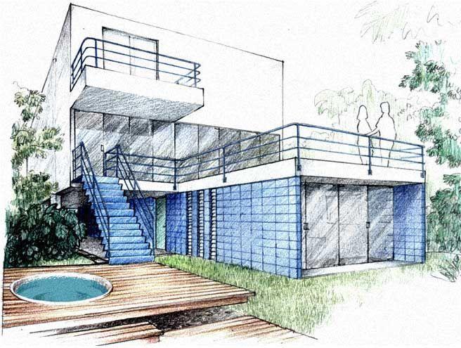 Resultado De Imagen Para Perspectiva Oblicua Y Frontal Juntas Dibujo De Arquitectura Dibujo Arquitectonico Bocetos Arquitectonicos