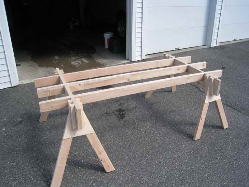 how to repairs sawhorse plans idea with large size. Black Bedroom Furniture Sets. Home Design Ideas