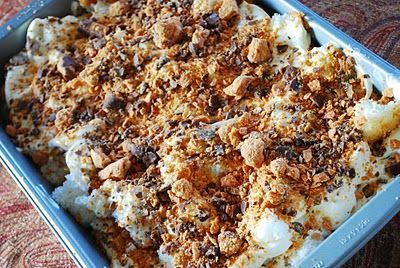 Butterfinger angel food cake my brother and i had many battles butterfinger dessert weight watchers 4 ww pts with angel food cake vanilla pudding mix cool whip butterfinger candy bars skim milk forumfinder Image collections