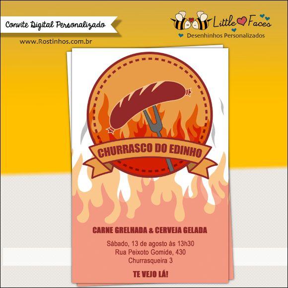 Convite Festa Churrasco Para Imprimir Scrapbook Cards Idea