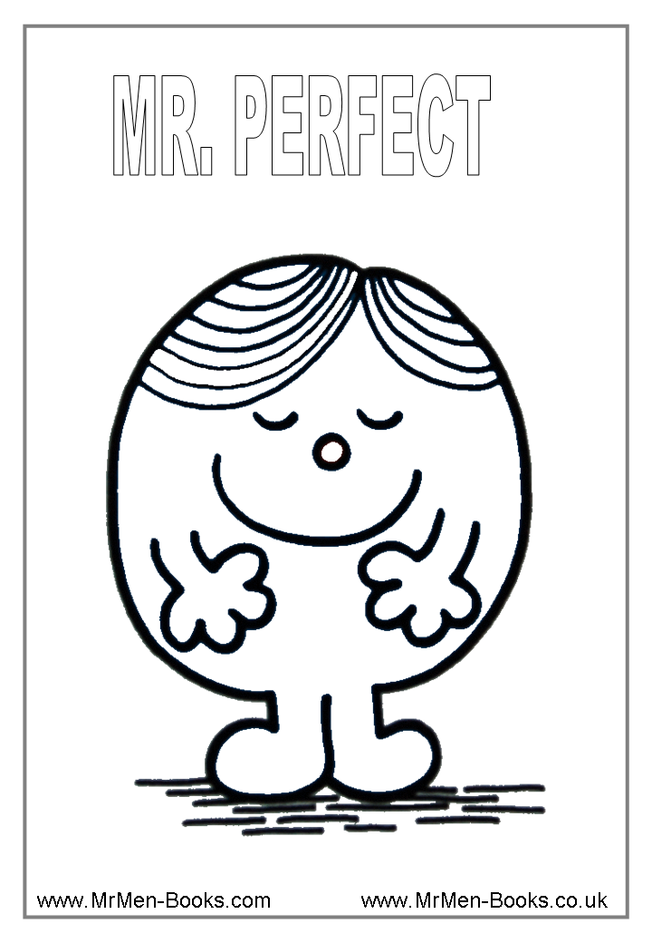 Mr Perfect Colouring Page   amazing coloring pictures   Pinterest ...