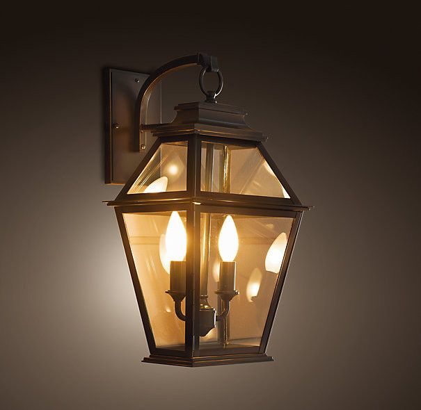 Cambridge Sconce Traditional Outdoor Lighting Restoration Hardware