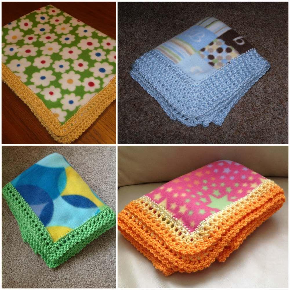 Edges for Fleece soft Baby Blankets in 2020 Crochet