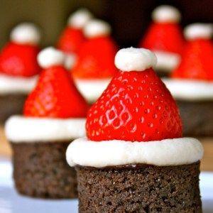 Leuk idee – Kerstman brownies