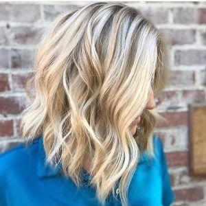 Stylish Wavy Lob Hair Styles Shoulder Length Wavy