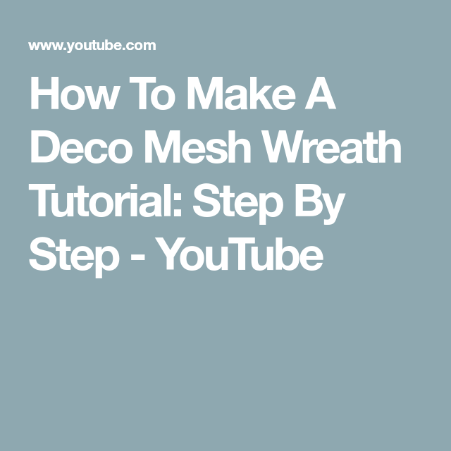 Photo of How To Make A Deco Mesh Wreath Tutorial: Step By Step