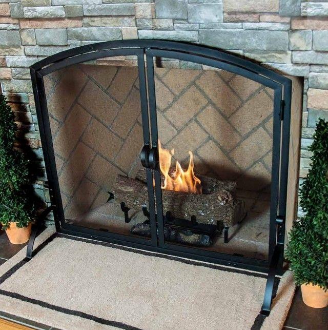 Fireplace Screen Doors Wrought Iron Home Design Ideas Fireplace