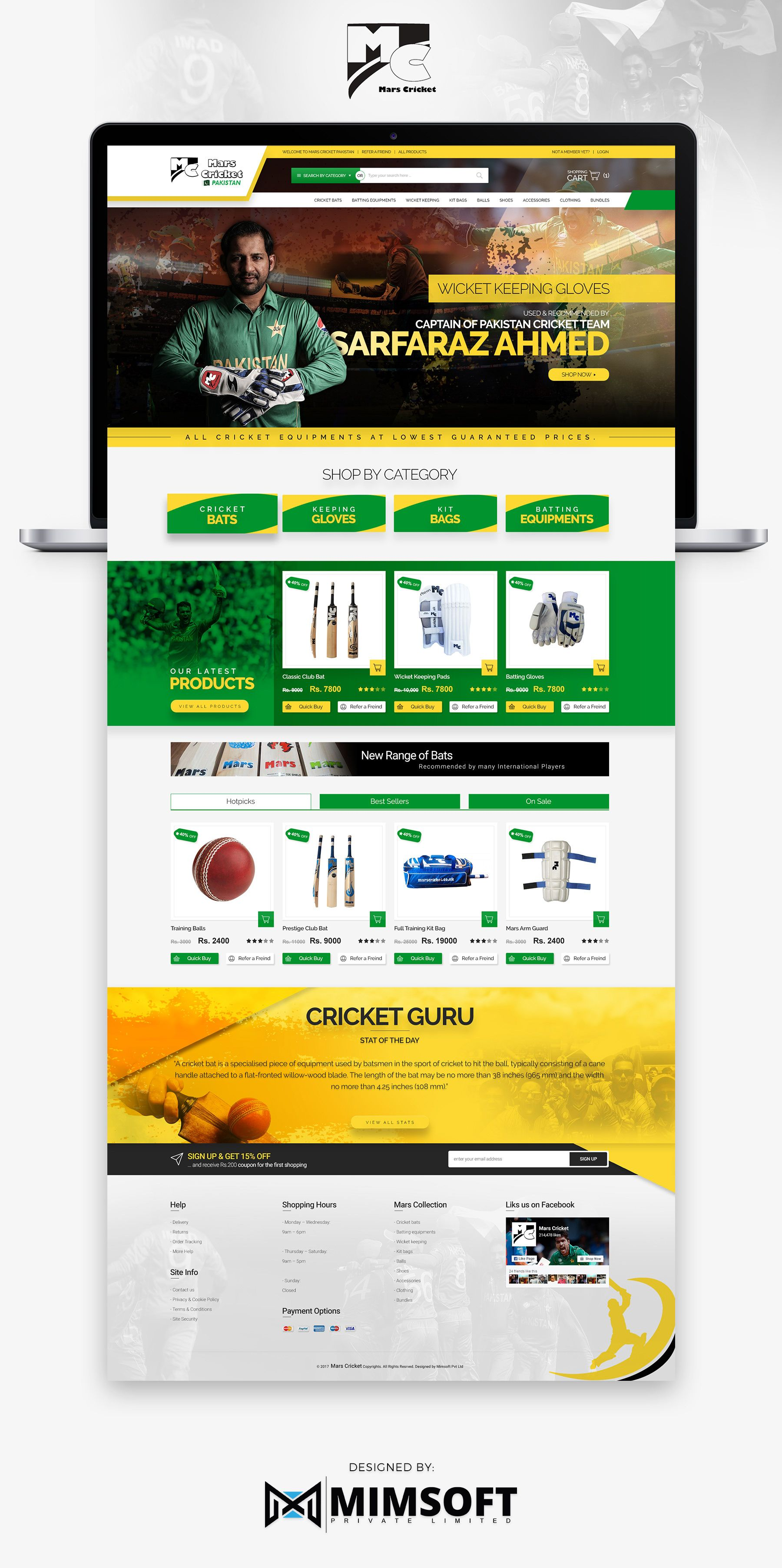 Check out my behance project mars cricket website