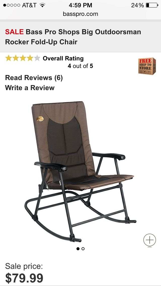 Fabulous Bass Pro Big Outdoorsman Rocker Foldup Chair Birthday Gmtry Best Dining Table And Chair Ideas Images Gmtryco